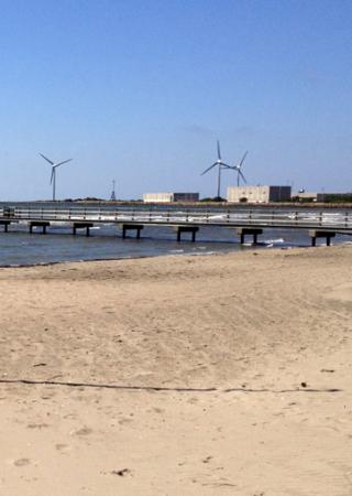 Bild på vindkraftverk med rotor med horisontell axel
